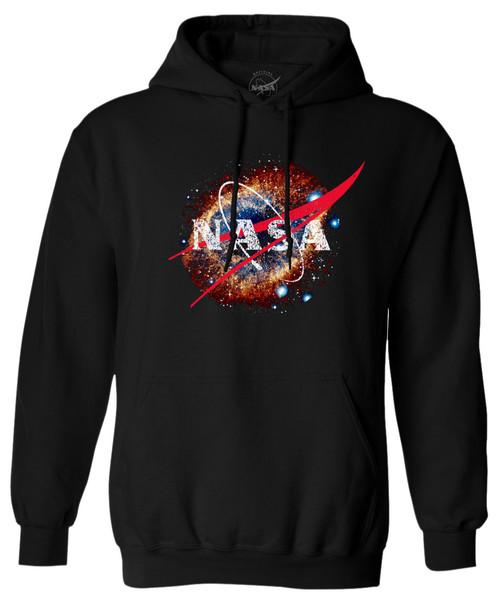 NASA Meatball Logo - Helix Nebula (NGC 7293) - Adult Hoodie