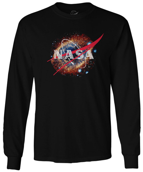 NASA Meatball Logo - Helix Nebula (NGC 7293) - Adult Long Sleeve T-Shirt