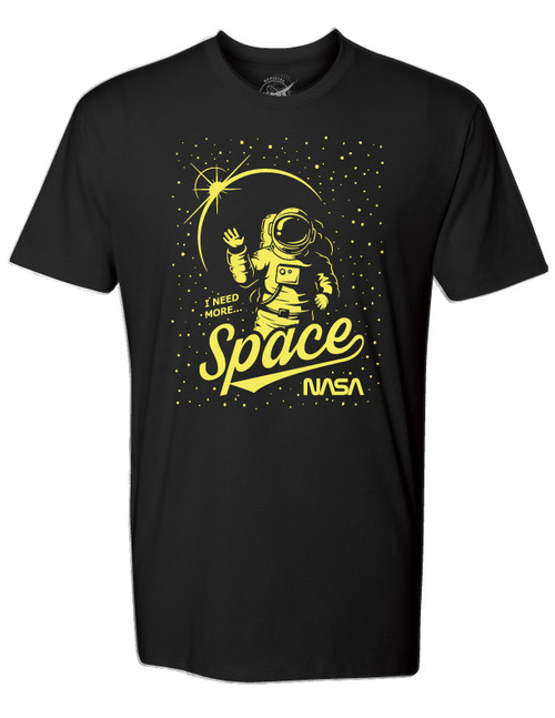 NASA Worm Logo - Glow in the Dark Astronaut Adult T-Shirt