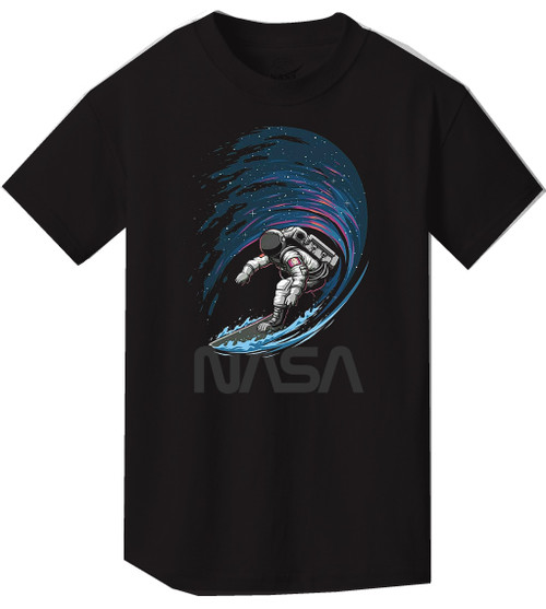 NASA Worm Logo - Surfing In Space Youth T-Shirt