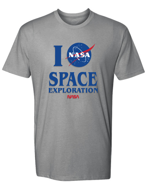 NASA Meatball Logo - I NASA Space Exploration Adult T-Shirt