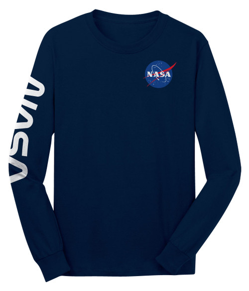 NASA Meatball Logo - Dual Logo Adult Long Sleeve T-Shirt