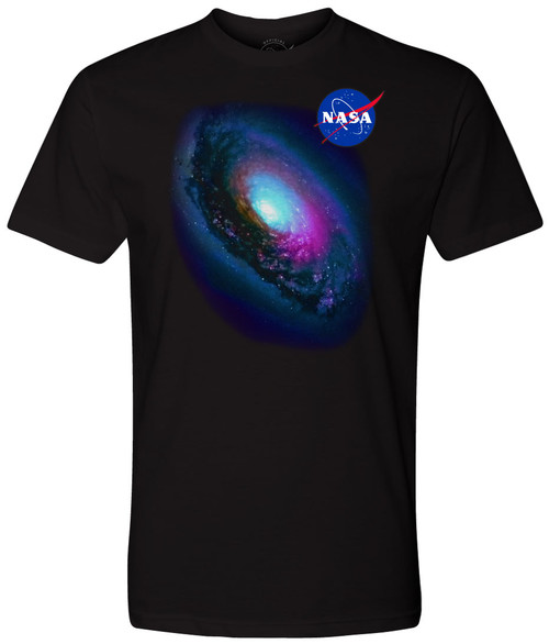 "NASA Meatball Logo - Messier 64 (M64) ""Black Eye"" Galaxy Adult T-Shirt"