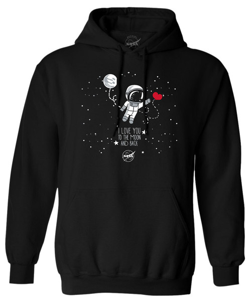 NASA Meatball Logo - To The Moon and Back Adult Hoodie