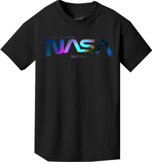 NASA Worm Logo - Nebula Design - Youth T-Shirt