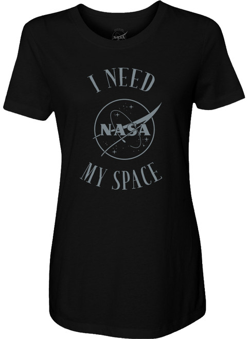 NASA Meatball Logo - I Need My Space Ladies T-Shirt