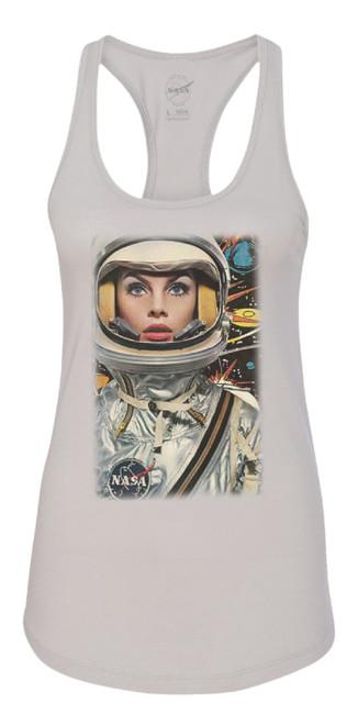NASA Meatball Logo - Lady Astronaut Ladies Racerback Tank Top
