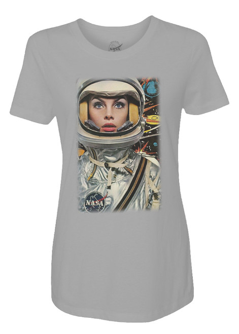 NASA Meatball Logo - Lady Astronaut Ladies T-Shirt