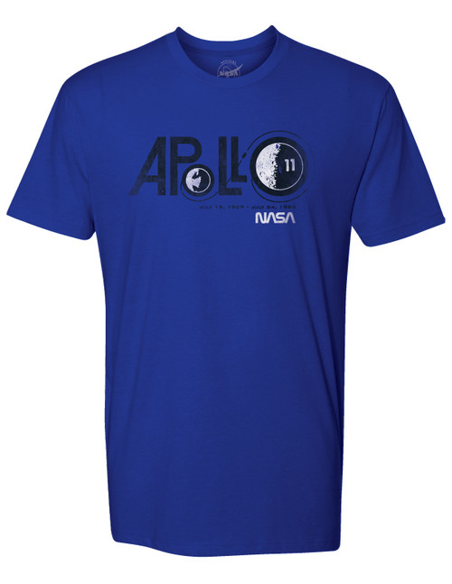 NASA Worm Logo - Apollo 11 Adult T-Shirt
