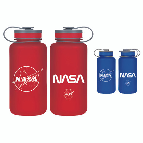NASA Meatball & Worm Logos - 32 oz Tritan Bottle - Red