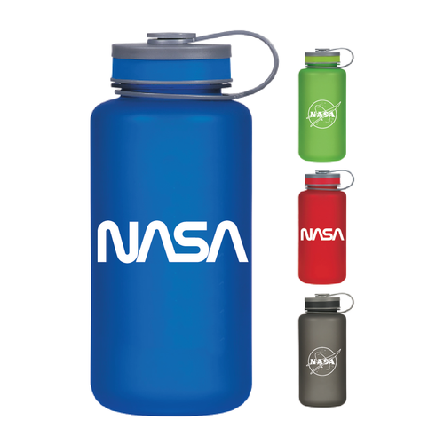 NASA Meatball & Worm Logos - 32 oz Tritan Bottle - Blue