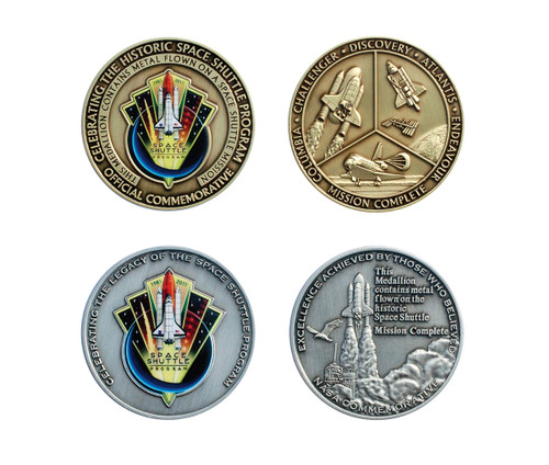 Space Shuttle Colorized Medallion