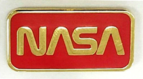 NASA Worm Logo Traditional Pin