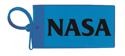 Nasa Luggage Tag - Blue