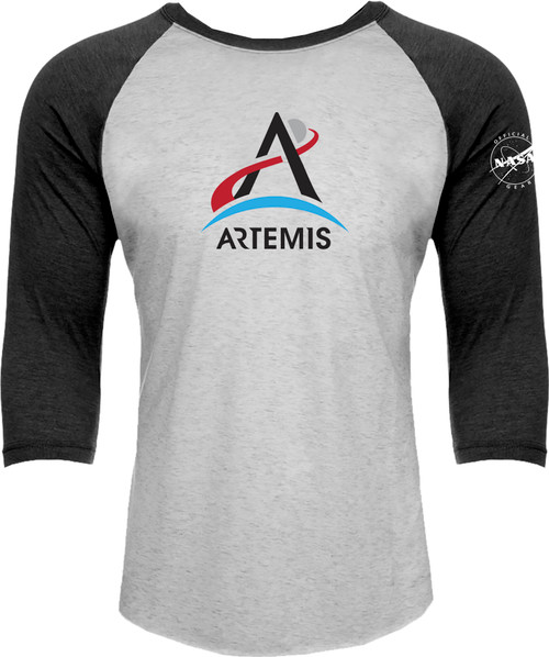 NASA Artemis Logo - Adult Baseball T-Shirt