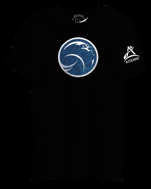 NASA Meatball Logo - Flip Sequin with Hidden Artemis Logo - Ladies T-Shirt