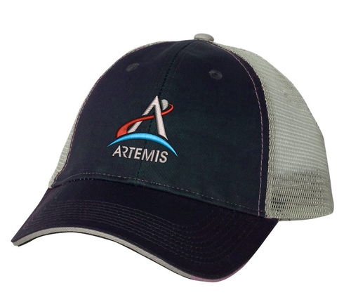NASA Artemis Logo - Grey And Black Trucker Hat