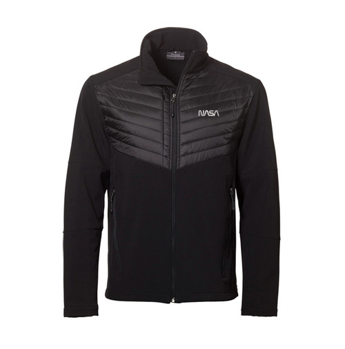 NASA Worm Logo - Reflective Design -  Aurora Men's Jacket