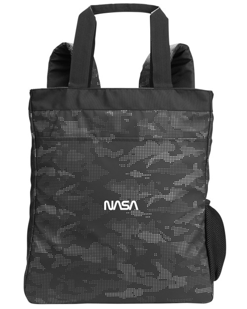 NASA Worm Logo - Reflective Camo Convertible Backpack Tote