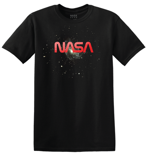 NASA Worm Logo - Red Foil Adult T-Shirt