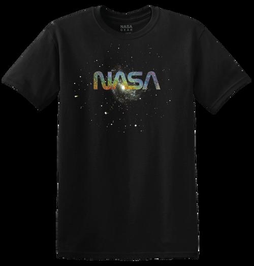 NASA Worm Logo - Starry Foil Adult T-Shirt