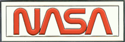 NASA Worm Logo - Enameled Magnet