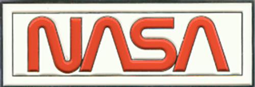 NASA Worm Logo - Enameled Magnet