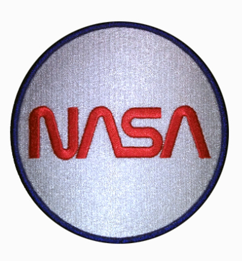 NASA Worm Logo - Embroidered Beverage Coasters