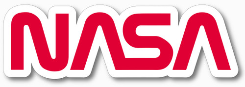 NASA Worm Logo - Vinyl Cutout Sticker