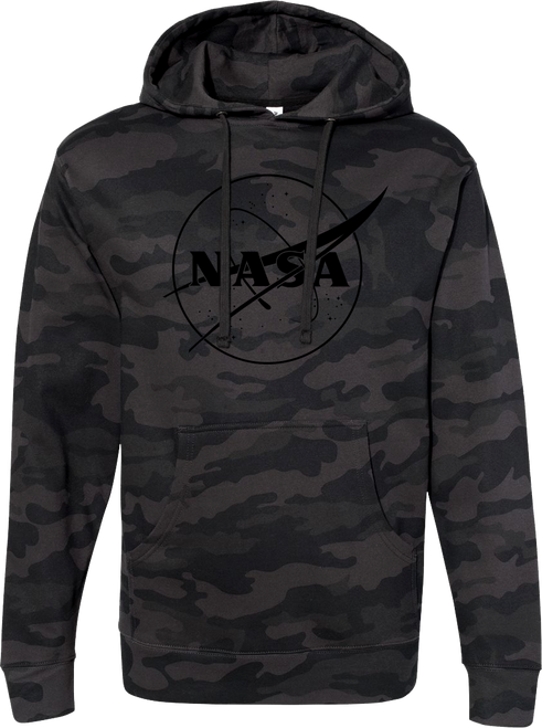 NASA Meatball Logo - Black Outline- Adult Hoodie