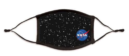 NASA Meatball Logo - Starry Cotton/Poly Face Mask
