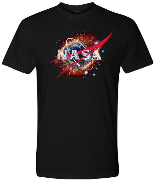 NASA Meatball Logo - Helix Nebula (NGC 7293) -Black  Adult T-Shirt *CLEARANCE*
