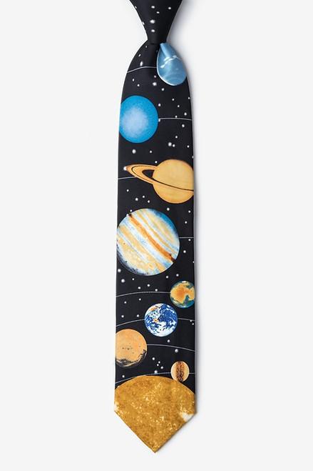 Wild Ties Solar System Black Microfiber Tie