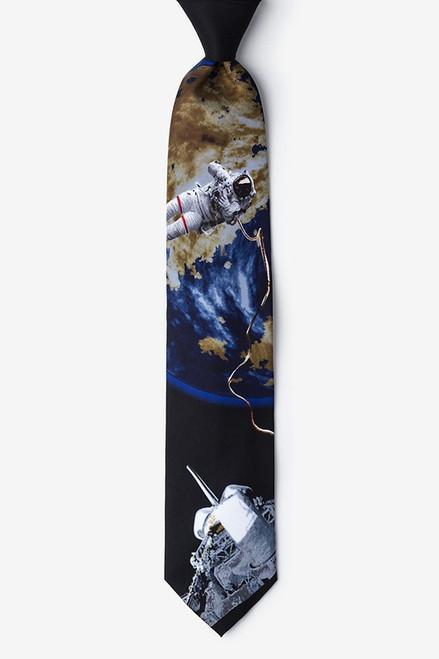 Wild Ties Space Walk Black Microfiber Tie
