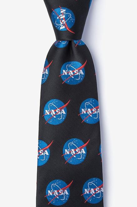 Wild Ties NASA Logo Black Microfiber Tie