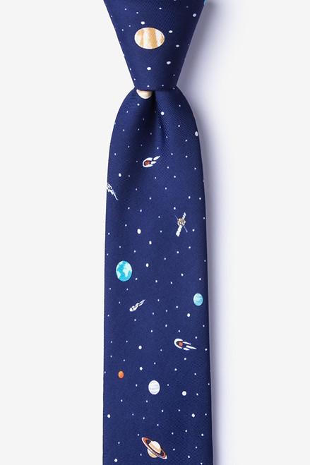 Wild Ties Outer Space Navy Microfiber Tie