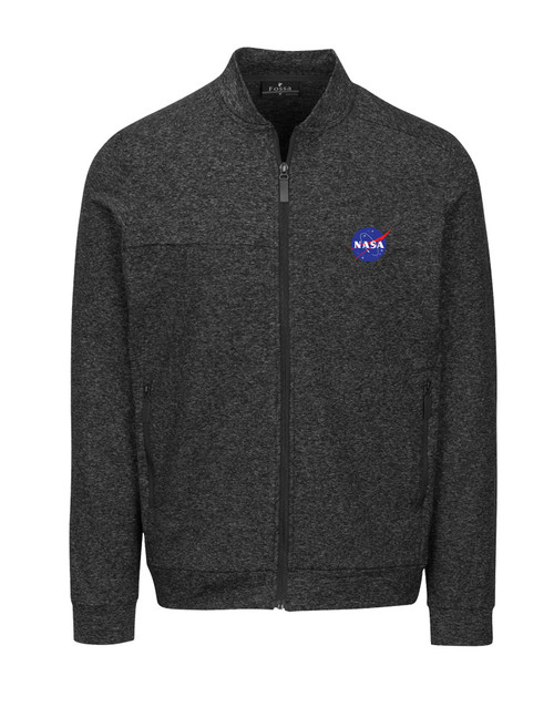 NASA Meatball Logo - Men's Morpheus Knit Fleece Jacket