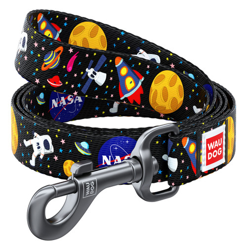 WAUDOG Nylon 4ft. Dog Lead with NASA Design