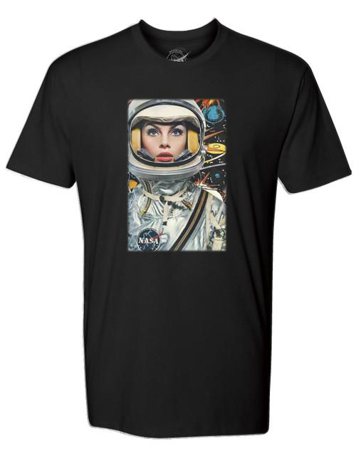 NASA Meatball Logo - Lady Astronaut Adult T-Shirt