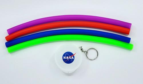 NASA Meatball Logo - Reusable Silicone Drinking Straw