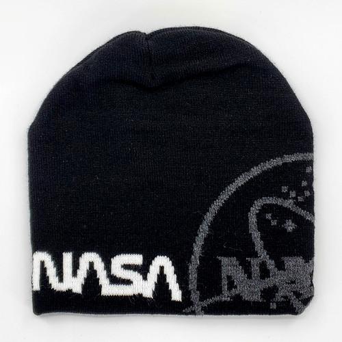 NASA Dual Logo Black Beanie
