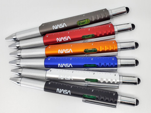 NASA Worm Logo - 6in1 Engineer Pen w/Stylus