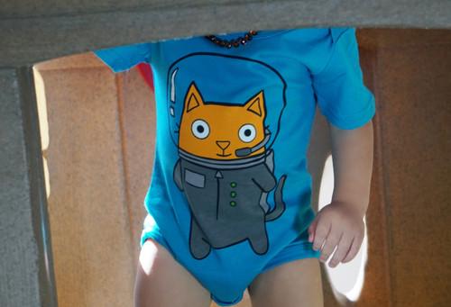 Astro Cat Bodysuit by Doodle Pants