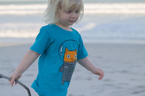 Astro Cat Tee Shirt by Doodle Pants