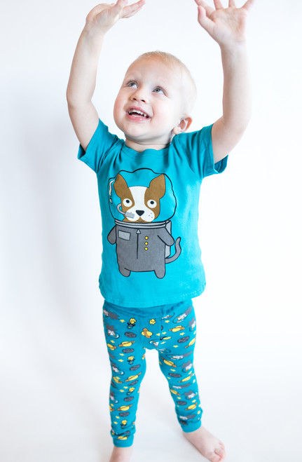 Astro Dog Tee Shirt by Doodle Pants