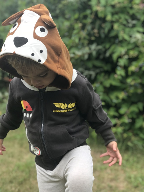 Commander Space Dog 3D Hoodie by Doodle Pants