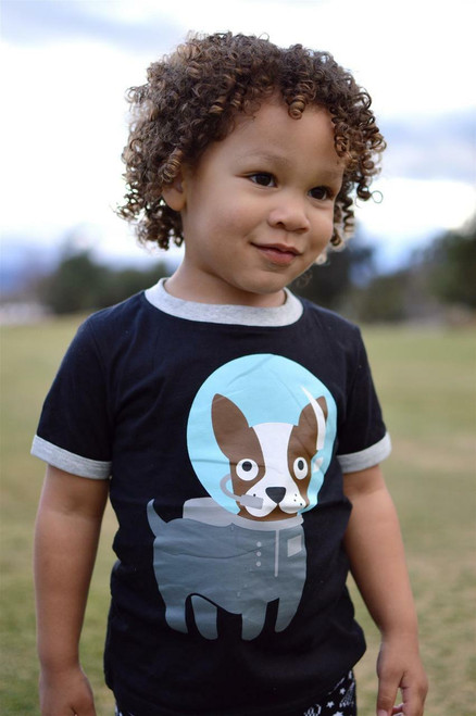 Space Dog Tee Shirt by Doodle Pants