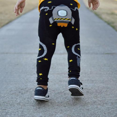Space Walk Cotton Leggings by Doodle Pants
