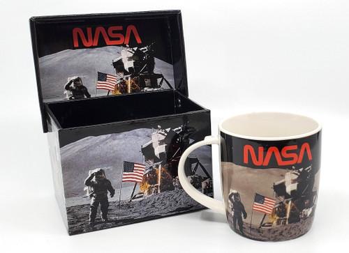NASA Worm Logo - Boxed Moon Landing Mug