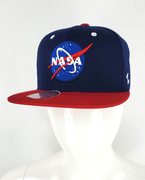NASA Meatball Logo - Navy and Red Flat Bill Z-Hat
